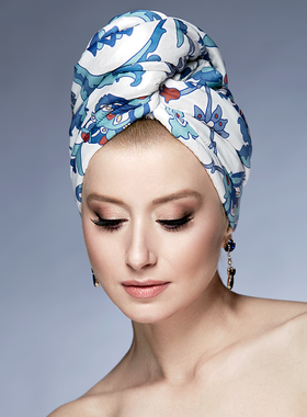 Hair Drying Turban-AGLIQUE TURQUOISE-satin finish