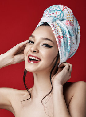 Hair Drying Turban-AGLIQUE ACCORD-cotton finish