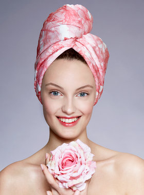 Hair Drying Turban-AGLIQUE ALMA-satin finish