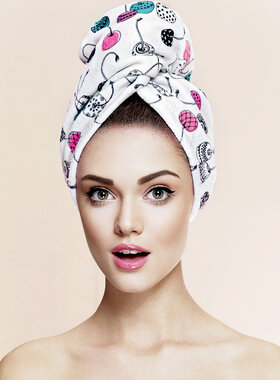 Hair Drying Turban-AGLIQUE MON CHERI-cotton finish