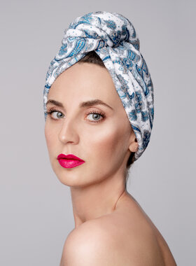 Hair Drying Turban-AGLIQUE AMALIA - cotton finish