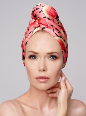Hair Drying Turban - AGLIQUE SANDIA - satin finish