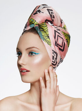 UV Protective Hair Turban - AGLIQUE TROPIC