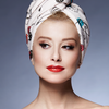 Hair Drying Turban-AGLIQUE MON CHERI-satin finish