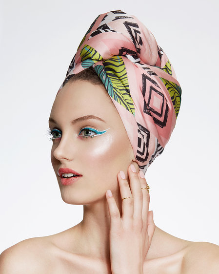Hair Drying Turban-AGLIQUE TROPIC-satin finish